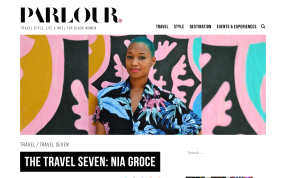 Parlour Magazine: The Travel Seven, http://parlourmagazine.com/2017/01/the-travel-seven-nia-groce/