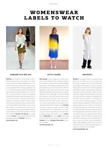 WeAr 48, WW Labels to Watch: Materiel