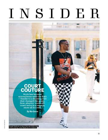 "Footwear News 8/27 Issue, Insider Opener: ""Court Couture"""