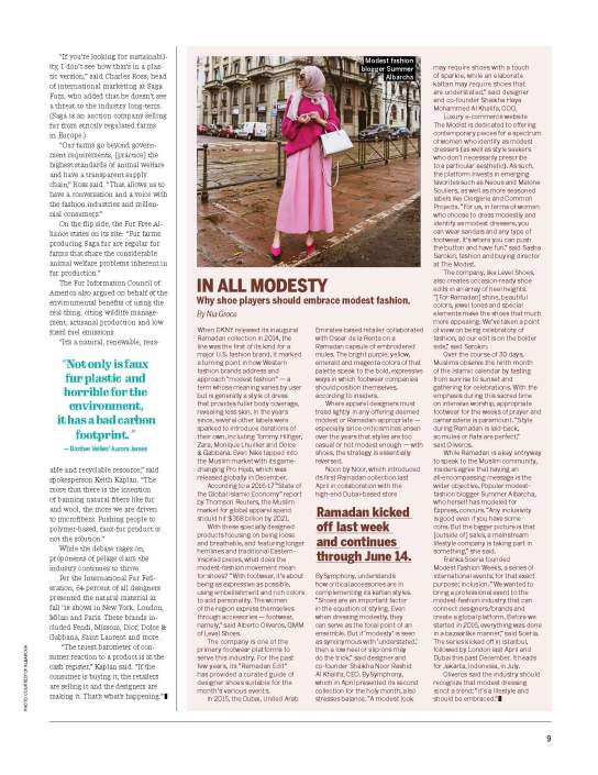 "FN 5.21.18 Issue; ""In All Modesty"" - Modest Fashion Editorial"