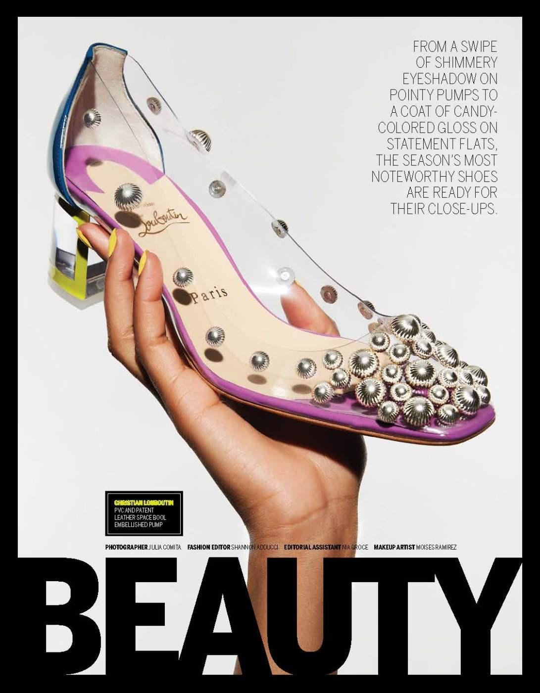 footwear news, beauty shoes