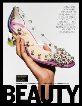footwear news, beauty shoes