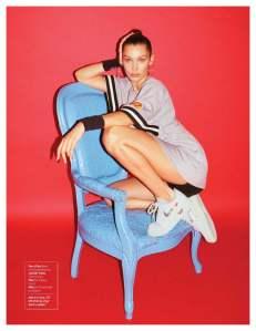 bella hadid, footwear news